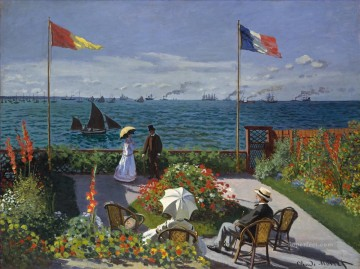 Garden at SainteAdresse Claude Monet Oil Paintings