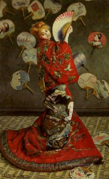 Camille Monet in Japanese Costume 莫奈油画、国画