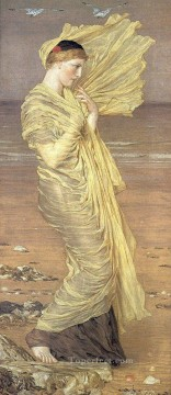 Sea Painting - Seagulls female figures Albert Joseph Moore