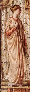 old Painting - Standing Female Figure Holding a Vase female figures Albert Joseph Moore