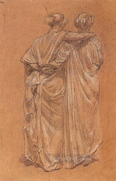 Albert Works - Study of Two Female Figures female figures Albert Joseph Moore