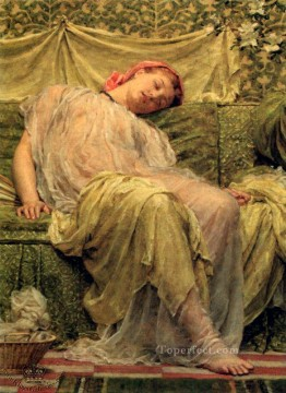 Albert Joseph Moore Painting - workbasket female figures Albert Joseph Moore