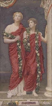 lan Art - A Garland female figures Albert Joseph Moore