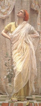 Albert Joseph Moore Painting - Birds female figures Albert Joseph Moore