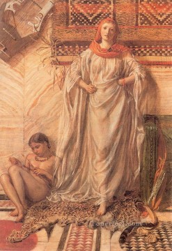 vagabonds resting in a cave Painting - Dancing Girl Resting female figures Albert Joseph Moore