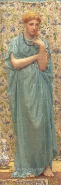 Albert Joseph Moore Painting - Marigolds female figures Albert Joseph Moore