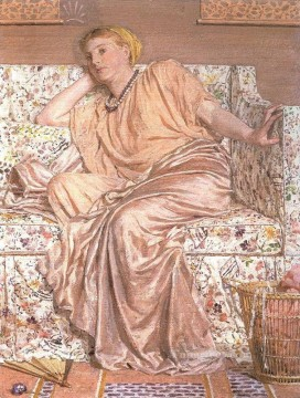 Albert Joseph Moore Painting - Pansies female figures Albert Joseph Moore
