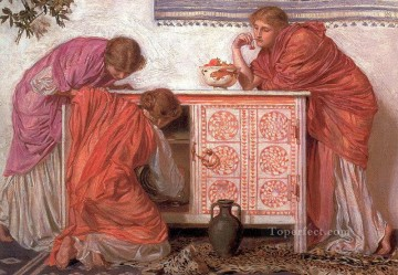 female Works - Pomegranates female figures Albert Joseph Moore
