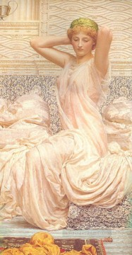 Silver Painting - Silver female figures Albert Joseph Moore
