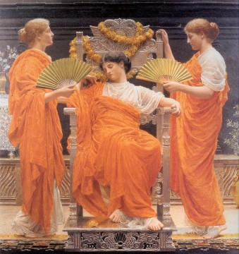 Albert Joseph Moore Painting - Midsummer female figures Albert Joseph Moore