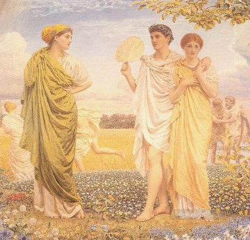 Albert Joseph Moore Painting - The Loves of the Winds and the Seasons female figures Albert Joseph Moore