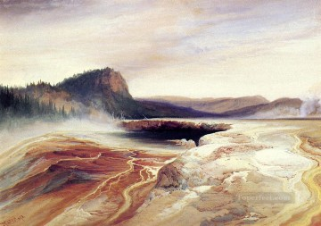 Giant Blue Spring Yellowstone2 Rocky Mountains School Thomas Moran Oil Paintings