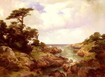Monterey Coast Rocky Mountains School Thomas Moran Oil Paintings