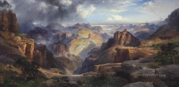 Artworks by 350 Famous Artists Painting - the grand canyon of the colorado Thomas Moran