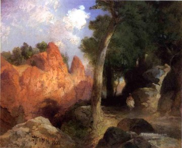Canyon of the Clouds Rocky Mountains School Thomas Moran Oil Paintings