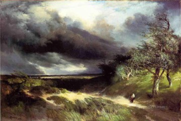 East Hampton Long Island Sand Rocky Mountains School Thomas Moran Oil Paintings
