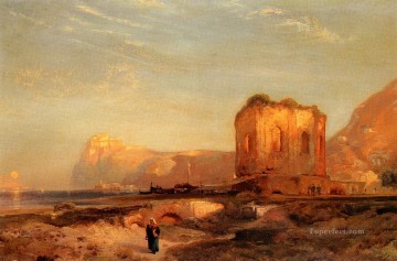 Temple of Venus Castle of Baiae Rocky Mountains School Thomas Moran Oil Paintings