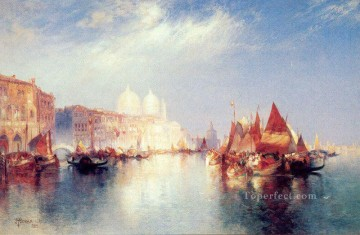 The Grand Canal seascape Thomas Moran Oil Paintings