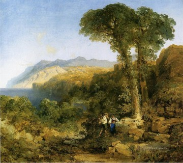 Amalfi Art - Amalfi Coast Rocky Mountains School Thomas Moran