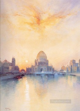 Chicago Worlds Fair seascape Thomas Moran Oil Paintings