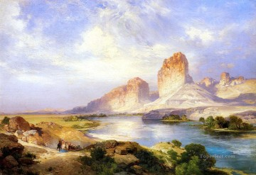 Green River Wyoming Rocky Mountains School Thomas Moran Oil Paintings