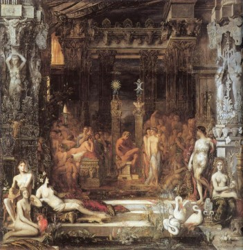 mythological Painting - The Daughters of Thespius Symbolism biblical mythological Gustave Moreau
