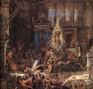 mythological Painting - the suitors Symbolism biblical mythological Gustave Moreau