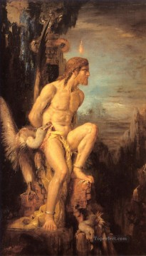 mythological Painting - Prometheus Symbolism biblical mythological Gustave Moreau