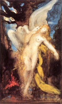 leda Symbolism biblical mythological Gustave Moreau Oil Paintings