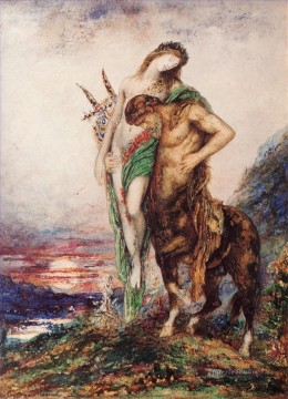 mythological Painting - The Dead Poet Borne by a Centaur Symbolism biblical mythological Gustave Moreau