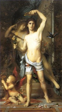 symbolism Painting - The Young Man and Death Symbolism biblical mythological Gustave Moreau