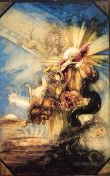 Phaethon Symbolism biblical mythological Gustave Moreau Oil Paintings