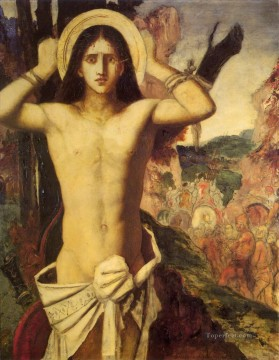 mythological Painting - st sebastian Symbolism biblical mythological Gustave Moreau