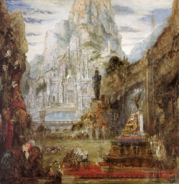 the triumph of alexander the great Symbolism biblical mythological Gustave Moreau Oil Paintings