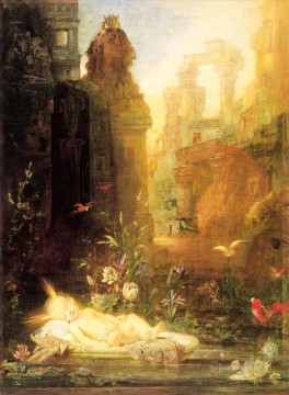 mythological Painting - young moses Symbolism biblical mythological Gustave Moreau