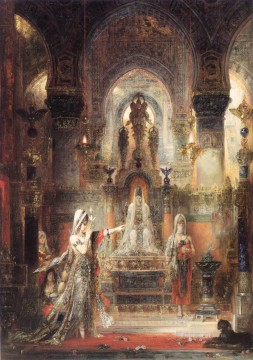 Salome Dancing before Herod Symbolism biblical mythological Gustave Moreau Oil Paintings