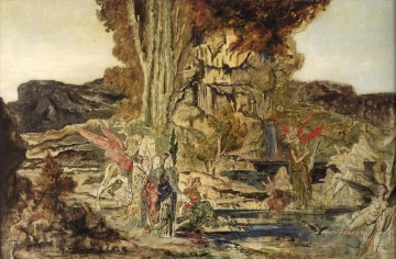 mythological Painting - the pierides Symbolism biblical mythological Gustave Moreau