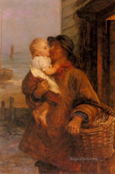 Family Works - A Welcome For Daddy rural family Frederick E Morgan