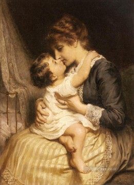 Frederick Morgan Painting - Motherly Love rural family Frederick E Morgan