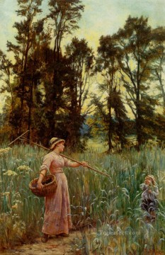 Frederick Morgan Painting - Not Far To Go rural family Frederick E Morgan