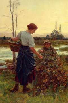 Frederick Morgan Painting - The Harves rural family Frederick E Morgan