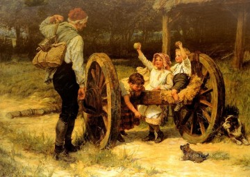 Merry As The day Is Long rural family Frederick E Morgan Oil Paintings