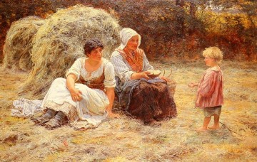 Midday Rest rural family Frederick E Morgan Oil Paintings