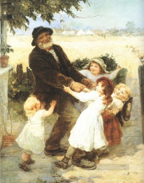 Frederick Morgan Painting - off to the fair rural family Frederick E Morgan