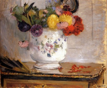 Dahlias flower painters Berthe Morisot Oil Paintings