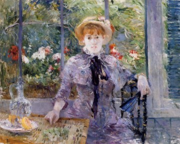 Berthe Morisot Painting - After Luncheon Berthe Morisot