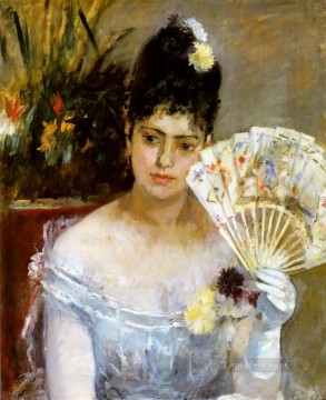 Berthe Morisot Painting - At the Ball Berthe Morisot