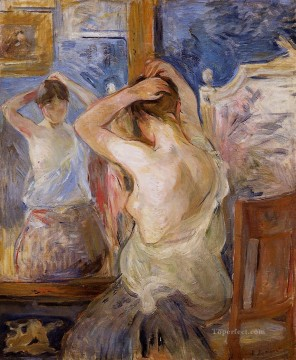 Before the Mirror Berthe Morisot Oil Paintings