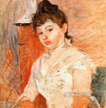 Jeune Fille en Blanc Berthe Morisot Oil Paintings