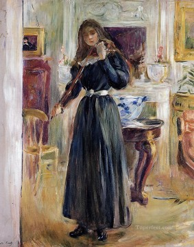Berthe Morisot Painting - Julie Playing a Violin Berthe Morisot